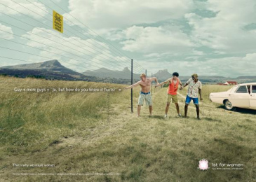 1st For Women Insurance Brokers: Fence Print Ad by Black River F.C. Johannesburg