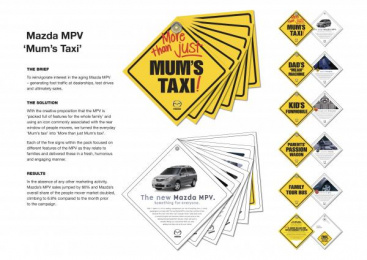 Mazda Mpv: MUM'S TAXI Direct marketing by Clemenger Proximity