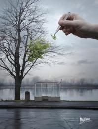 Magimage Studio: Tree Print Ad by Lowe@Alfred Amsterdam