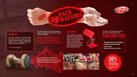 Lifebuoy: Hackwashing - Board Print Ad by Geometry Encompass