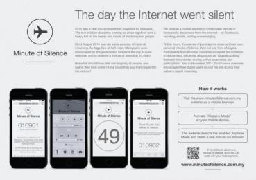 MUTIARA: Minute Of Silence - The Day The Internet Went Silent [english] Digital Advert by McCann Erickson Kuala Lumpur