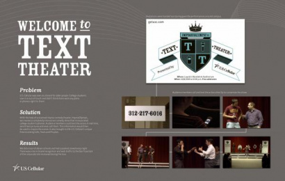 U.s. Cellular: TEXT THEATRE Promo / PR Ad by Riney San Francisco