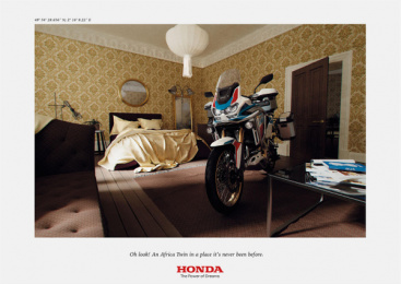 Honda: Africa Twin At Home, 5 Print Ad by DDB Paris