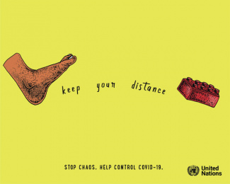 United Nations: Keep Your Distance, 2 Print Ad by Salsa Lima