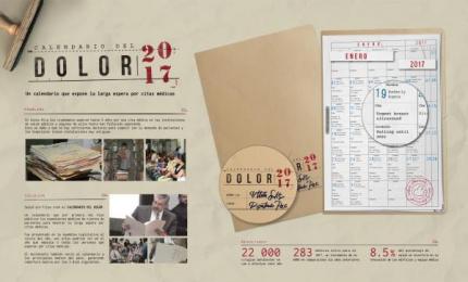 Salud sin Filas: Calendario del dolor [image] Direct marketing by Publimark Lowe San Jose