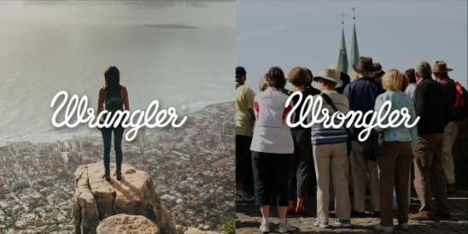 Wrangler: Wrangler vs Wrongler, 9 Print Ad by WE ARE Pi
