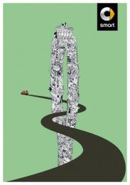 Smart Fortwo: Berlin Print Ad by BBDO Berlin
