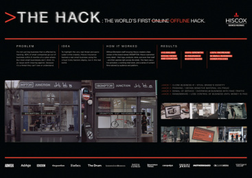 Hiscox: The Hack Ambient Advert by AMV BBDO London