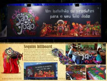 Cantinho Doce: Sequins billboard Outdoor Advert by ALMAP BBDO Brazil, Quadrante Advertising