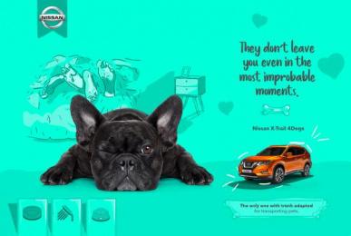 Nissan: X-Trail 4 Dogs, 2 Print Ad by ALFA Goiás