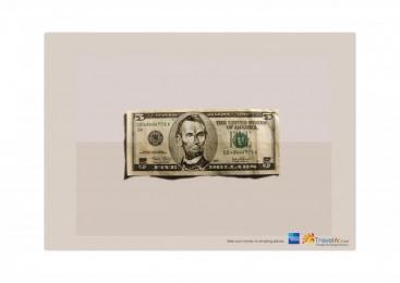 American Express: 5 DOLLARS Outdoor Advert by Ireland/Davenport