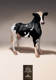 Xenical Weight Loss Drug: Cow Print Ad by Pragma DDB Lima