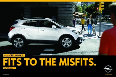 Vauxhall: Fits to the Misfits Print Ad by Scholz & Friends Berlin