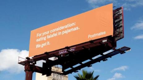 Postmates: We Get It - Falafel Outdoor Advert by 180 LA