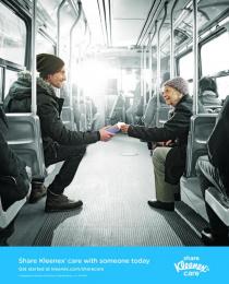 Kleenex: Kleenex Share the Care Print Ad by Geometry Global Toronto, Ogilvy & Mather Toronto