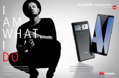 Huawei Mate10 Pro: I am What I Do, 2 Print Ad by Doner