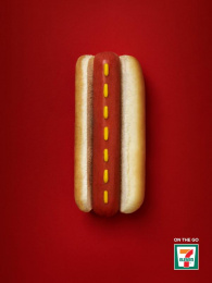 7-eleven: Hot Dog Highway Print Ad by Spring Vancouver