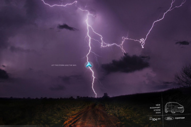 Ford: Let the storm lead the way, 1 Print Ad by 3AW Brazil