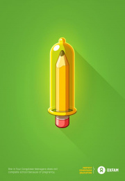 Oxfam: Pencil Print Ad by FCB Montreal