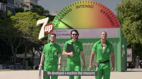 7-up: It's 7Up vs the Heat Ambient Advert by Impero