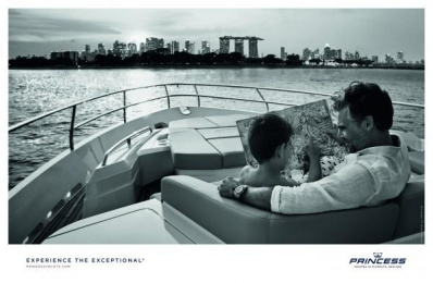 Princess Yachts: Father & Son [alternative color spectrum] Print Ad by Bsur Amsterdam