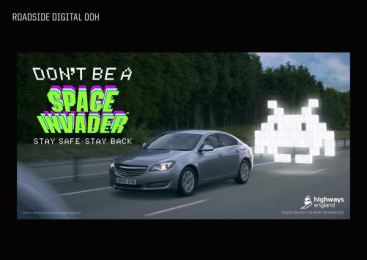 Highways England: Space Invaders, 5 Print Ad by adam&eveDDB London