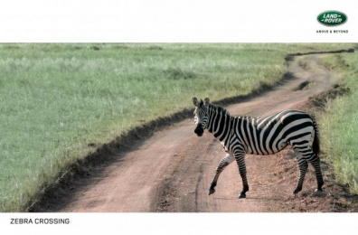 Land Rover: Zebra Crossing Print Ad by M&C Saatchi Tel-Aviv