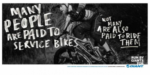 Giant Bicycles: Run By Giants For Giant, 9 Print Ad by Rees Bradley Hepburn (RBH)