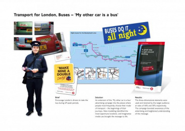 London Bus Services: MY OTHER CAR IS A BUS Direct marketing by Chemistry Communications Group