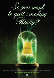 Quit: Nicotine Addiction, 1 Print Ad by Ursa Clemenger Australia