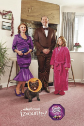 Quality Street Chocolates: MRS PURPLE ONE & FAMILY Outdoor Advert by J. Walter Thompson London