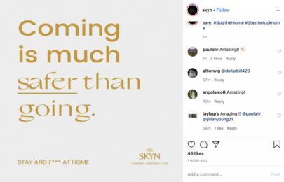 SKYN: Stay and f*** at Home, 1 Digital Advert by Sid Lee Paris