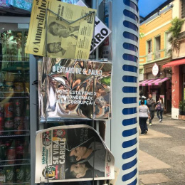 O Estadao De Sao Paulo: Huge Mirror, 1 Ambient Advert by Momentum Sao Paulo