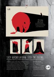 Malaysian Nature Society: CUT A TREE. KILL A LIFE - TAPIR Print Ad by Y&R Kuala Lumpur