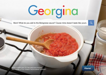 FiberTel: Search Engine - Georgina Print Ad by Don