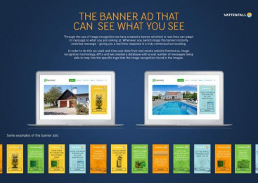 Vattenfall: The Banner Ad That Can See What You See, 1 Case study by McCann Stockholm