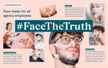 Preuss und Preuss: #FaceTheTruth Print Ad by Preuss Und Preuss Germany