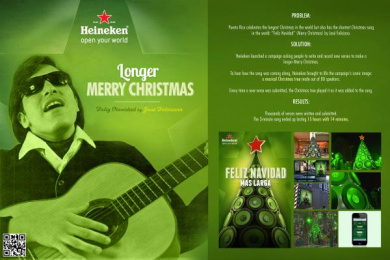 Heineken Beer: LONGER MERRY CHRISTMAS Outdoor Advert by J. Walter Thompson San Juan