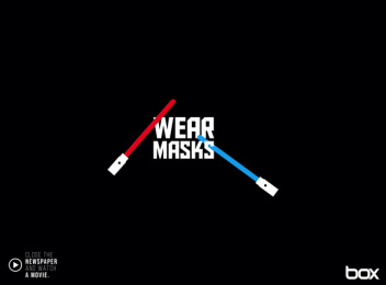 Box Comunicação: Wear masks Print Ad by Box Goiania Brazil