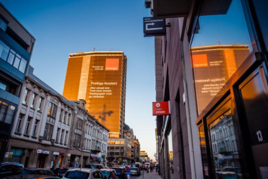 Orange: The largest wrapping paper, 5 Outdoor Advert by Publicis Brussels