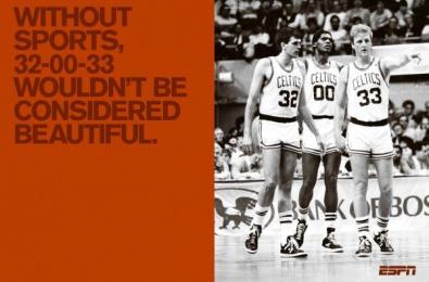 ESPN Classic: THE BIG THREE Print Ad by Wieden + Kennedy New York