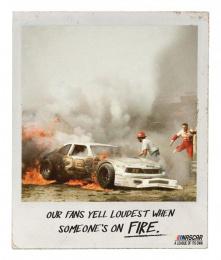 Nascar: Fire Print Ad by Miami Ad School San Francisco