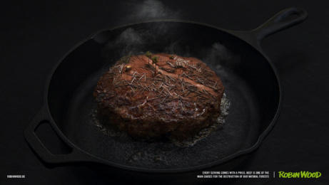 Robin Wood: Every Serving Comes With a Price, 3 Print Ad by Serviceplan Campaign X Munich