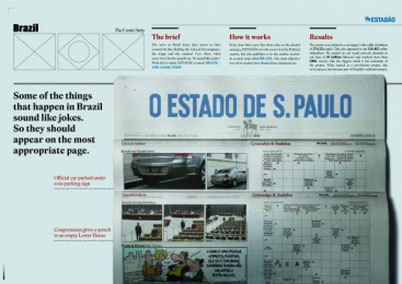 O Estadao De Sao Paulo: O Estadao De Sao Paulo Print Ad by FCB Sao Paulo