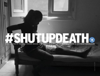 Doctors Of The World: Shut Up Death, 2 Print Ad by DDB Paris, Frenzy