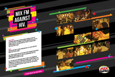 Radio Mix FM: MIX AGAINST HIV Direct marketing by Que Comunicacao