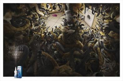 Otrivin: Cats Print Ad by Saatchi & Saatchi BrandsRock Johannesburg
