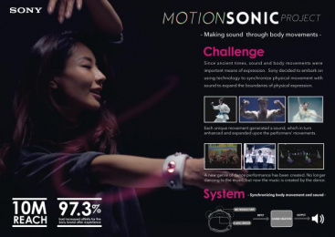 Sony: Motion Sonic Project [image] Design & Branding by Dentsu Inc. Tokyo, Tyo drive