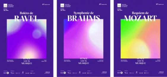 Orchestre Symphonique de Montreal (OSM): Synesthesia, 3 Print Ad by K72