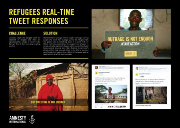 Amnesty International: Refugees Real-Time Tweet Responses [image] Digital Advert by Magnum Photos, Ogilvy & Mather London